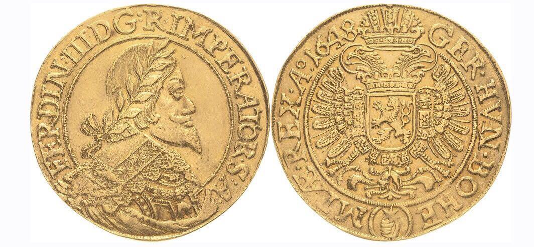Wert Einer Münze Aus 1648 Gold Barren Und Münzen Zur Wertanlage
